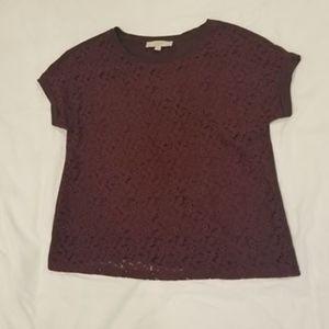 LOFT T-Shirt with Lace Detail